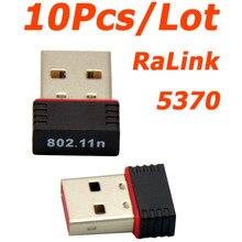 Vente en gros 10 pièces/lot Mini Ralink 5370 150Mbps sans fil WiFi USB adaptateur LAN carte réseau adaptateur pour SKYBOX/Openbox/STB