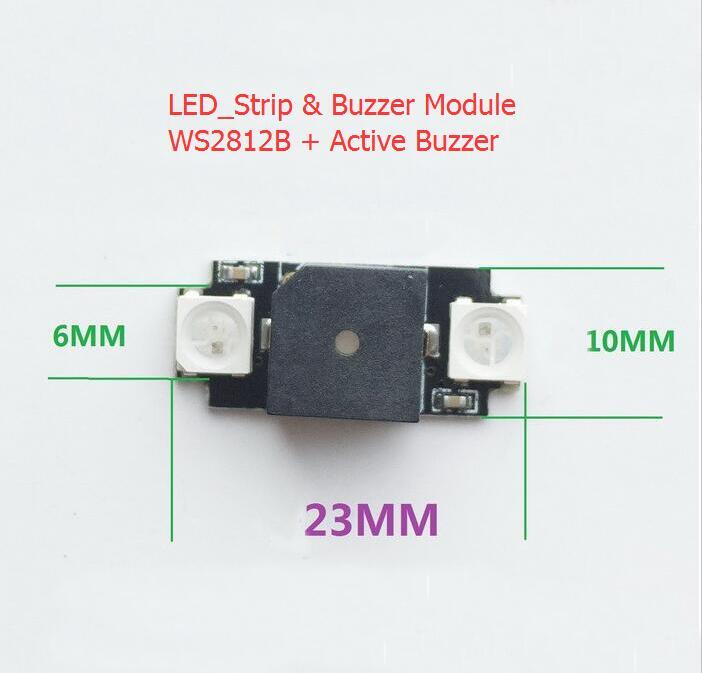 Ultra-light Colorful LED & Alarm buzzer board 5V WS2812 Programmable BF CF For NAZE32 F3 F4 FPV Drone Accessories