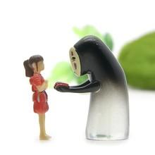 2 pièces sans visage et Chihiro Ogino figurine japonais Anime Studio Ghibli Kaonashi Miyazaki Hayao