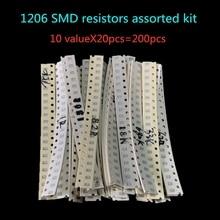 200PCS 5% 1210 SMD resistors assorted kit set ,10 valueX20pcs=200pcs 0R82 0R75 R68 R560 0R50 R47 R33 R22 R150 R100