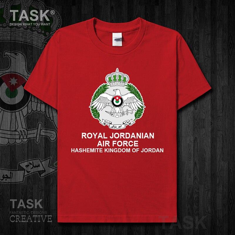 Air Force Jordan Jordanian árabe JO partes superiores nuevas Camiseta de manga corta país fans fitness ejército táctico militar 01