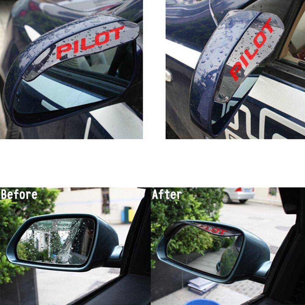 Protectores de lluvia para coche, vista trasera, burlete, pegatina de protección para Honda Vezel xr-v cr-z Grace Insight Jazz Pilot Stepwgn, accesorios