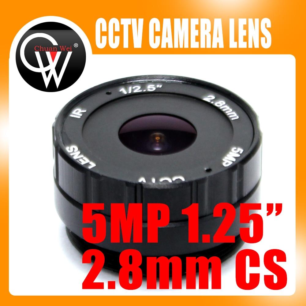 HD 5MP 2,8 мм CS Объектив f1.2 1/3 ИК объектив видеонаблюдения cs крепление для дня/ночи CCD камера безопасности IP