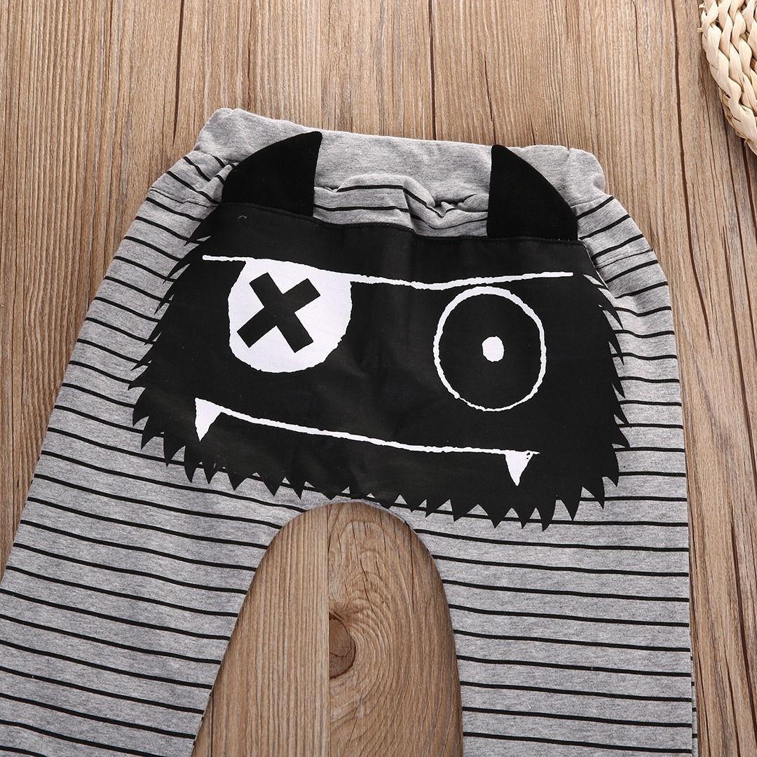 Pantalones bombachos Monster para niños y niñas, pantalón informal, 0 a 2 años