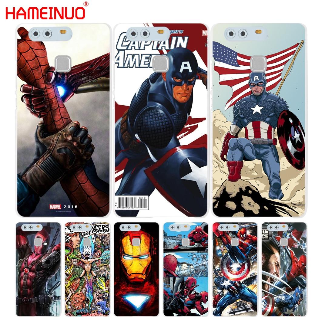 HAMEINUO, Batman, Hombre Araña, Deadpool cubierta del teléfono para huawei Ascend P7 P8 P9 P10 lite más G8 G7 honor 5C 2017 Mate 8