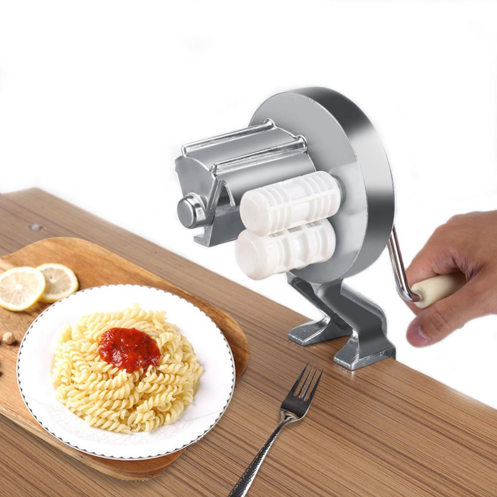 Aleación de aluminio nuevo fabricante de Pasta máquina de rodillo hogar de tipo dividido mano manivela Pasta cortador para espagueti fideos fettufcine