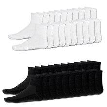 HOT 20 x paires hommes coton riche Sport chaussettes chaussettes Sport taille 6-10 blanc et noir