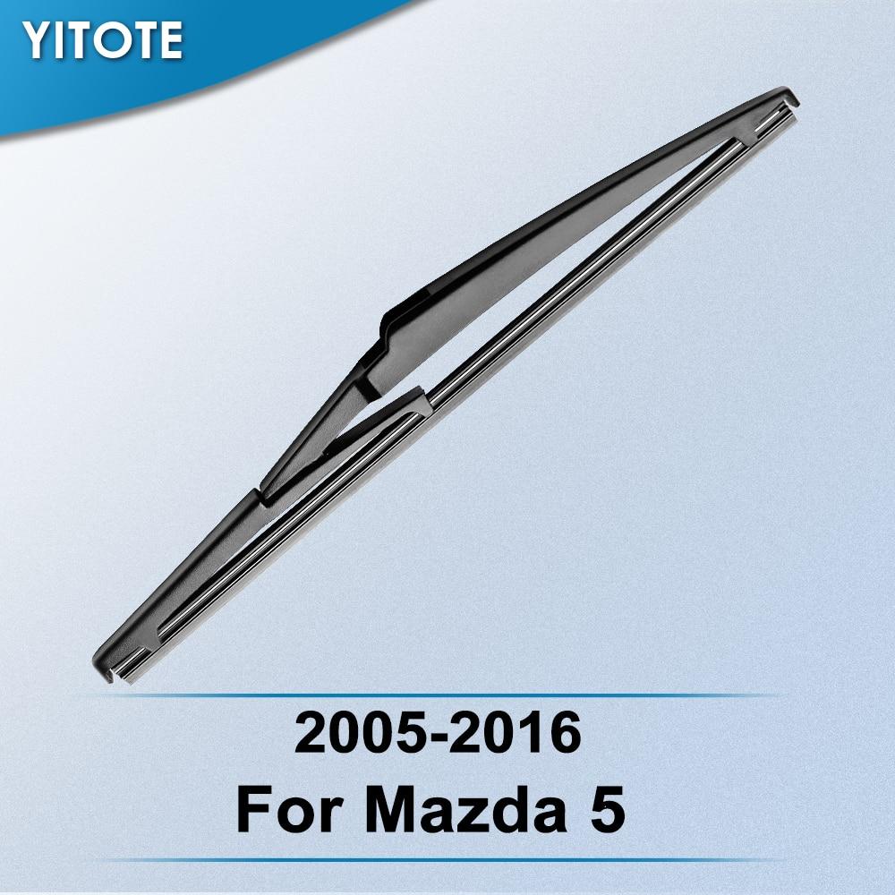 YITOTE limpiaparabrisas trasero hoja para Mazda 5 2005, 2006, 2007, 2008, 2009, 2010, 2011, 2012, 2013, 2014, 2015, 2016