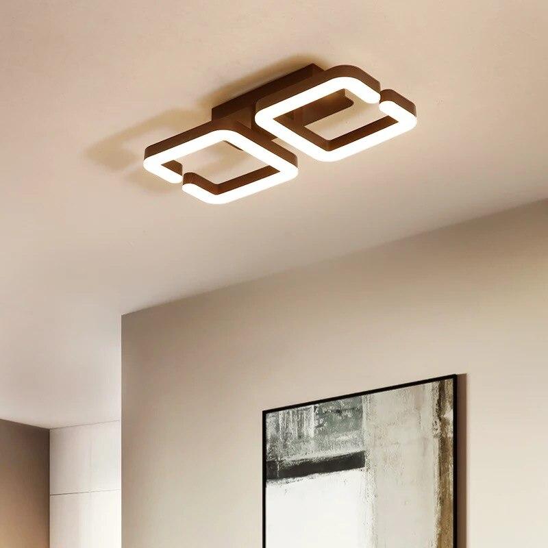 Marrón moderno araña de techo Led lámpara de techo lámpara de iluminación...