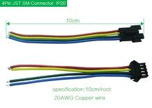Connecteur de bande mené par rvb de 4 broches 10 cm, connecteur mené Rechargeable de bande de plusieurs couleurs mâle et femelle