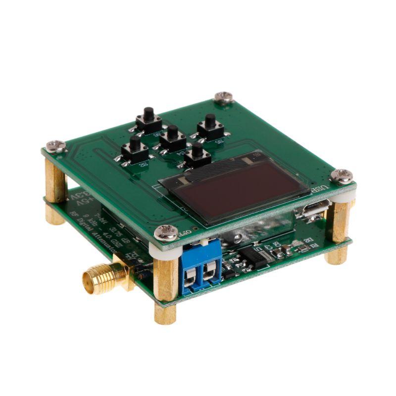PE43702 Digital atenuador RF Módulo 9KHz-4GHz 0.25dB paso precisión con pantalla OLED microcontrolador de la Junta de Control de