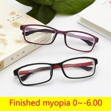 Lunettes TR90 ultralégères pour la myopie   Lunettes unisexes à visée courte, lunettes à monture complète avec degrés, 1 -1.5-2-2.5 à 6.0