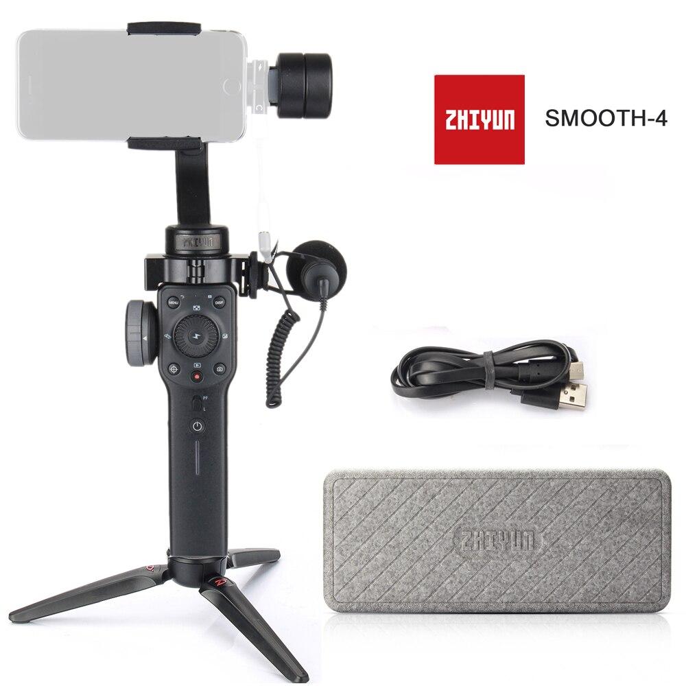 Zhiyun Suave 4 3-eje de Smartphone del cardán estabilizador del Zhiyun suave Q modelo para iPhone X 8 8 7 6S Samsung S9 S8 S7