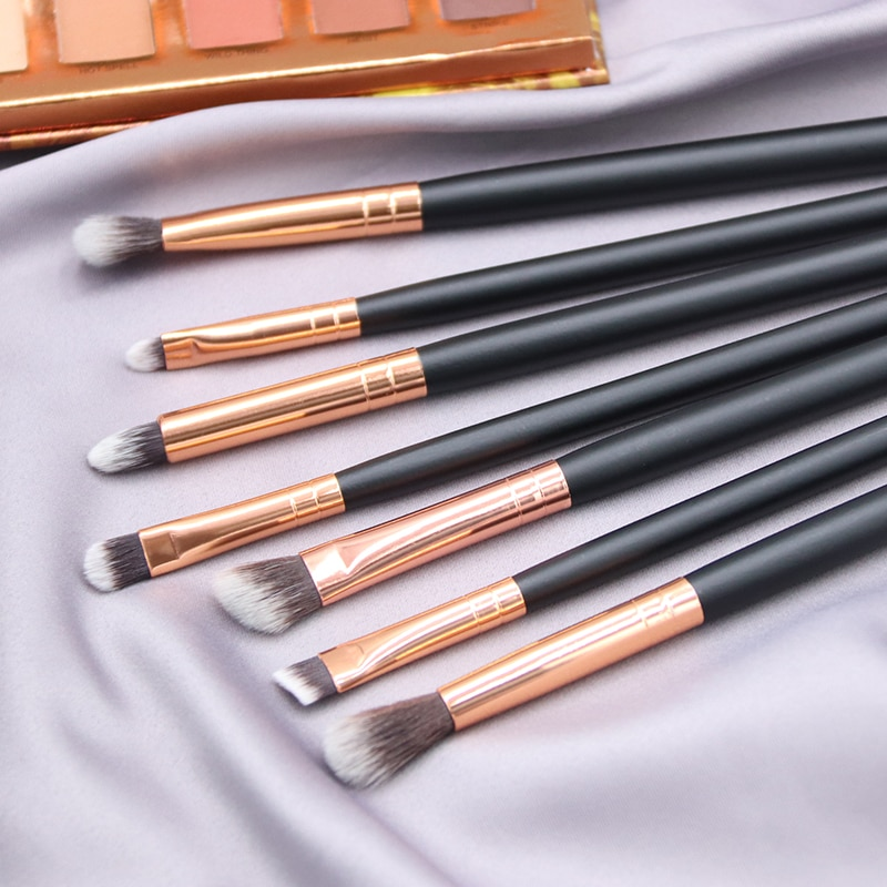 BBL 7 Wesentliche Make-Up Eye Pinsel Set-Lidschatten Wimpern Eyeliner Tapered Blending Falte Kit Make-Up Pinsel Pincel Maquiagem