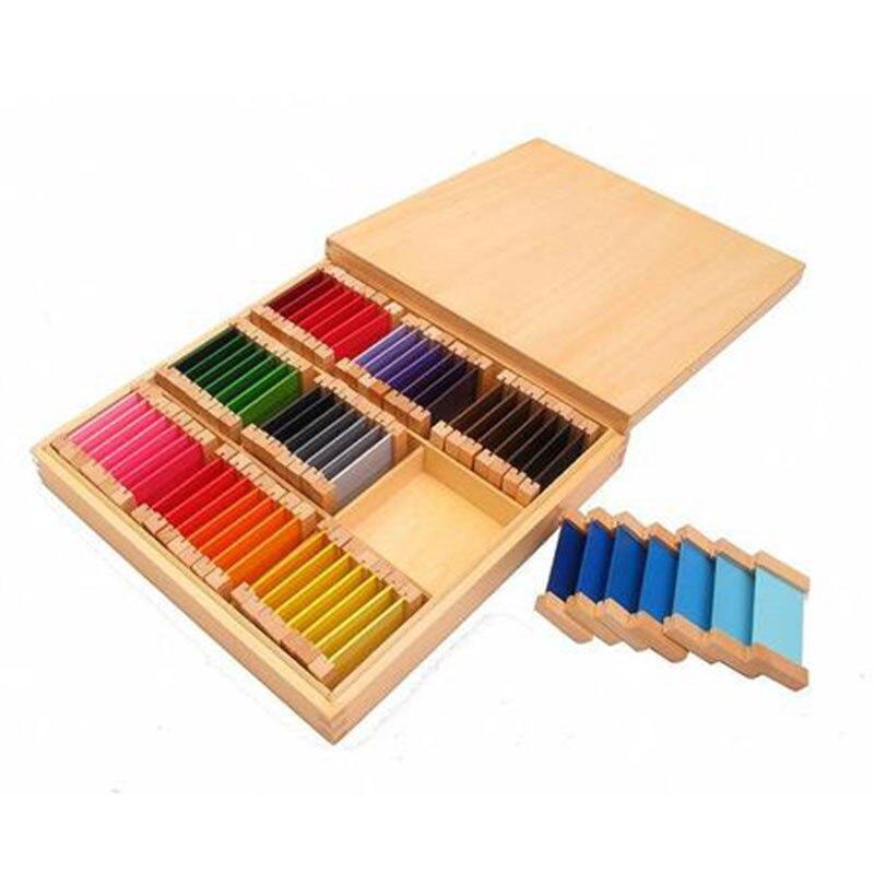 Juguetes sensoriales Montessori de madera caja de 3 Juguetes educativos de aprendizaje temprano para niños de 3 años Juguetes Brinquedos E1664H