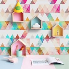 Papier peint auto-adhésif moderne nordique coloré   Autocollant mural abstrait, imperméable, pour les chambres denfants, pour décoration de meubles de maison