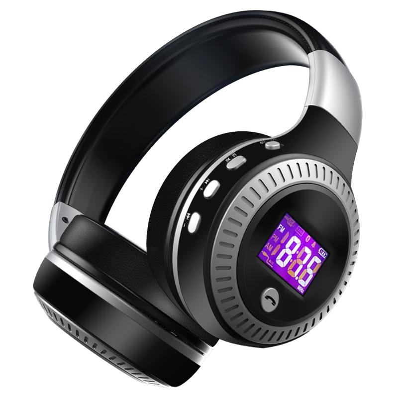 ZEALOT B19 auriculares Bluetooth auriculares inalámbricos sobre el oído Radio FM tarjeta Micro SD MP3 jugar con micrófono