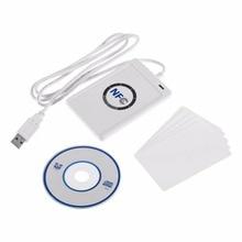 RFID 스마트 카드 리더기 복사기 복사기 쓰기 가능 복사 USB S50 13.56mhz ISO/IEC18092 + 5pcs M1 카드 NFC ACR122U Dropship