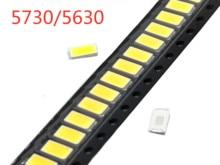 100 pièces SMD 5730 Diode blanche SMD5730 0.5W LED 5630 3000K 4000K 6000k 9500k puce Super brillante 150mA PCB SMT Diode électroluminescente