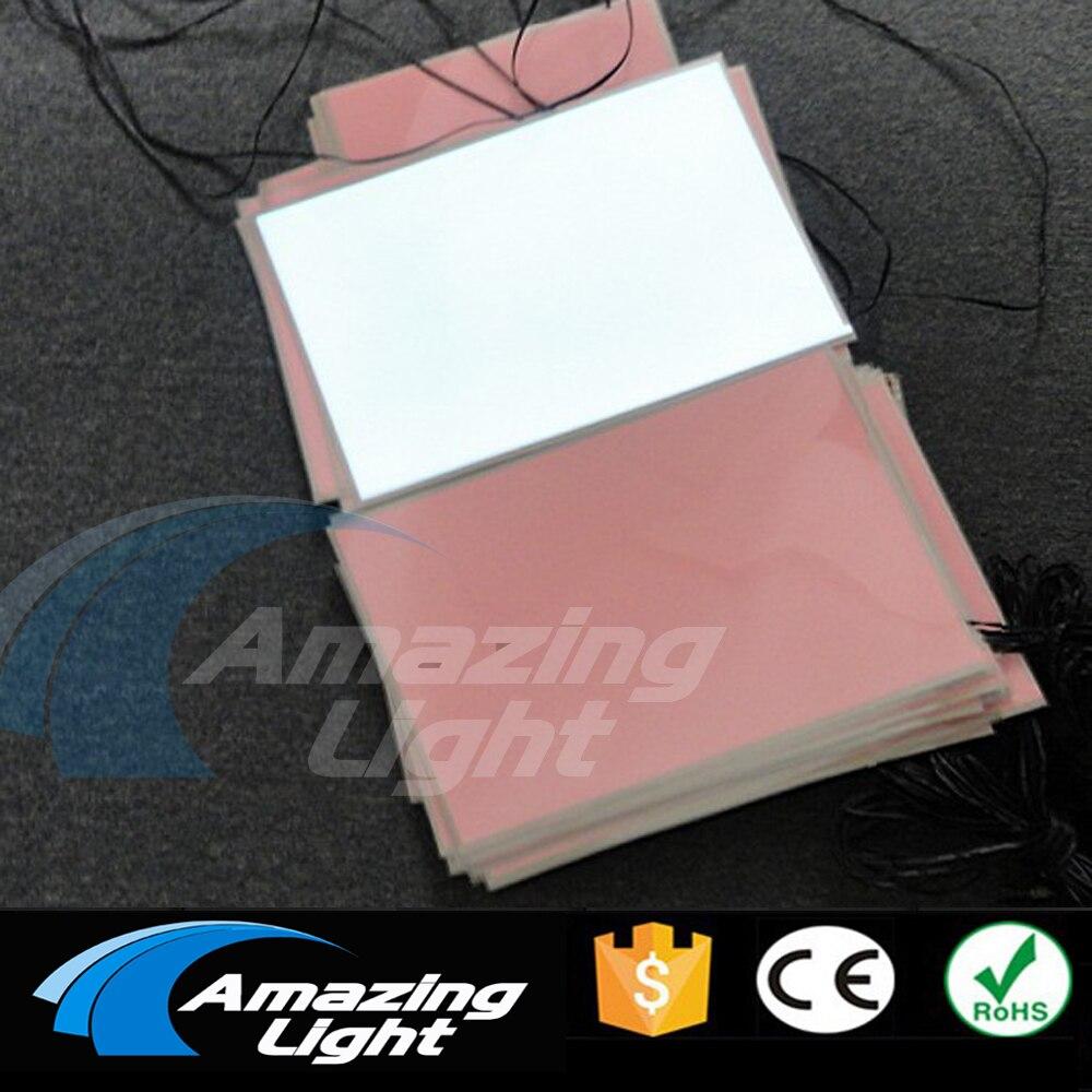 100 unids/lote blanco color A4 (210*297mm) lámina de retroiluminación electroluminiscente panel LCD el panel con inversor DC12V
