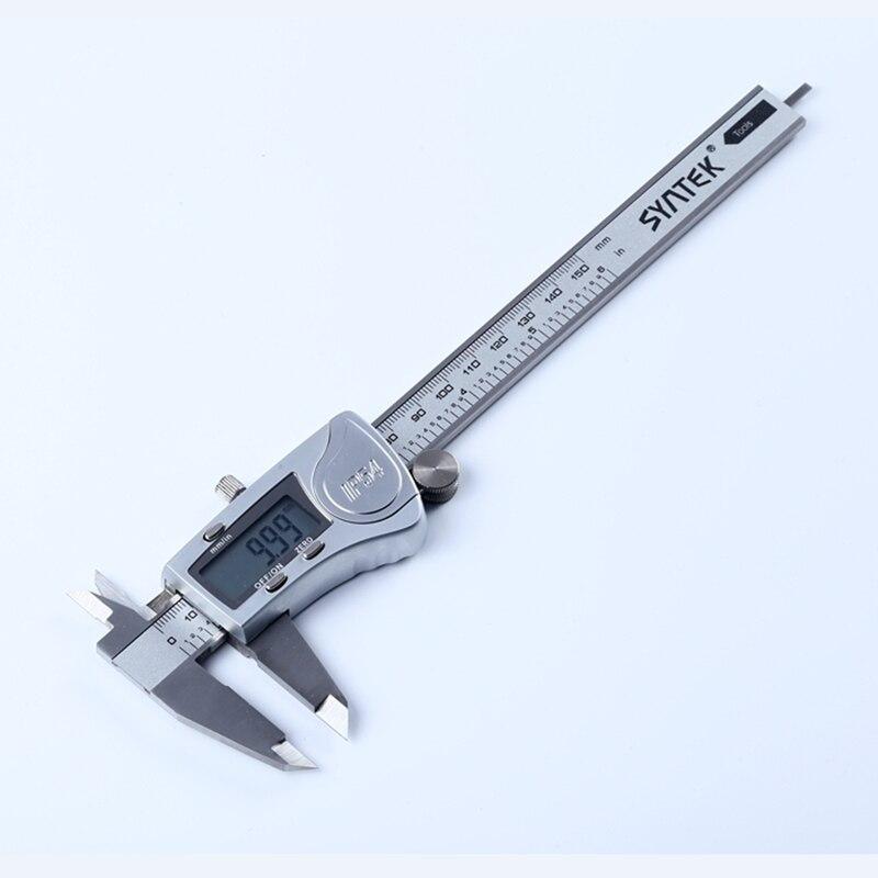 """150 мм электронные цифровые Штангенциркули из нержавеющей стали 6 """"IP54 Водонепроницаемый промышленный штангенциркуль измерительная линейка 0,01 мм с коробкой"""