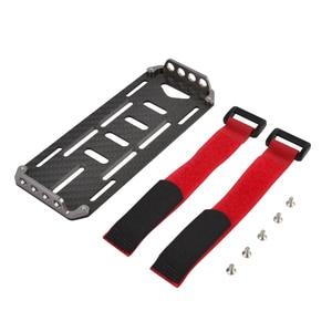 1/10 RC Гусеничный автомобиль углеродное волокно батарея Монтажная пластина лоток с галстуком для Axial SCX10 90046