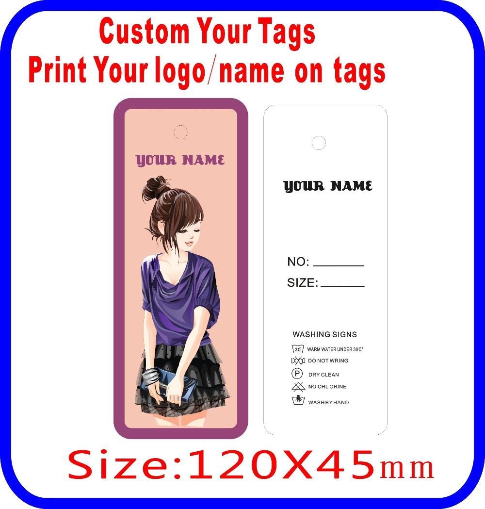 print your logo your shop name on tags Custom girl skirt clothes tags DIY as you need