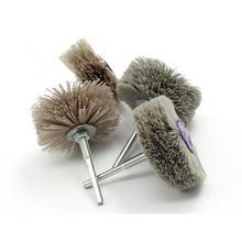 4 pièces 80*30*6mm foret abrasif fil meule Nylon soies brosse de polissage pour meubles en bois acajou