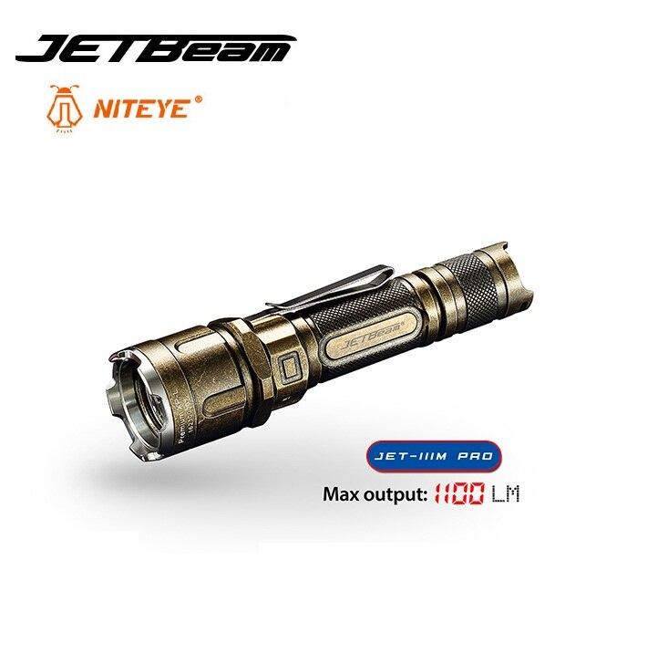 2019 Jetbeam JET-IIIM 3M PRO lampe de poche tactique Cree XP-L LED 1100 Lumens torche auto-défense avec IPX-8 étanche par 18650 batterie