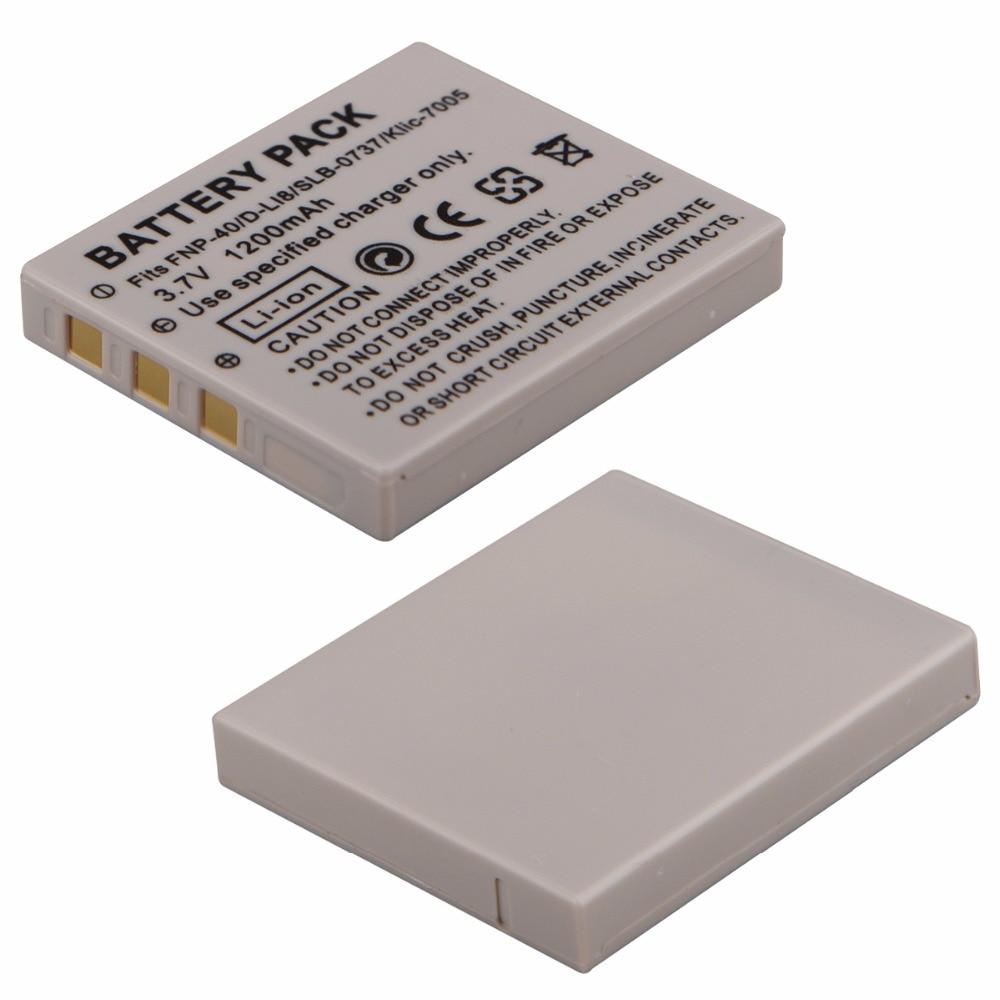 1 шт. 1200 мАч NP-40 NP-40N батарея для BENQ DLI-102 FUJIFILM NP-40 NP-40N KODAK KLIC-7005 PENTAX D-LI8 D-Li85 для RICOH SAMSUNG