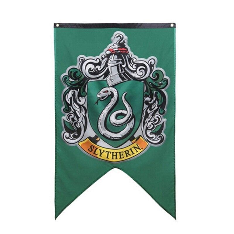 Pott bruxaria bandeira hogwarts faculdade crianças har meninos meninas banners halloween festa de natal decoração da escola presente mágico