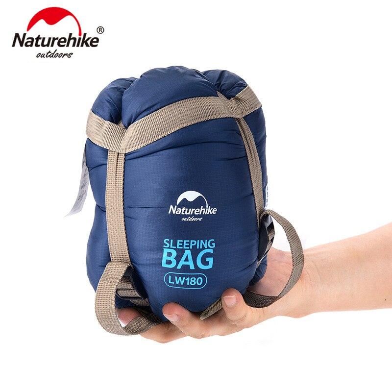 NatureHike sobre ultraligero al aire libre Mini saco de dormir tamaño Ultra pequeño para Camping senderismo escalada al aire libre 1,9*0,75 m