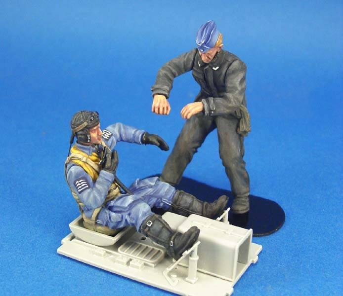 1/24 Resin Figures  Model Kits  1/24 WWII Luftwaffe BF-109 Pilot  Unassembled unpainted