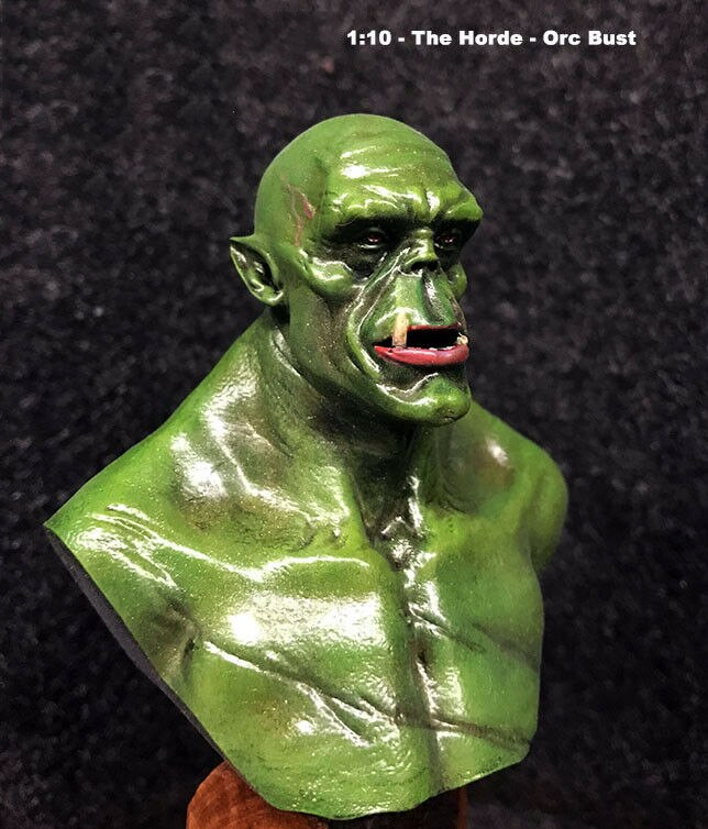 Unassambled 1/10 la horda-Orc busto histórico resina modelo en miniatura sin pintar