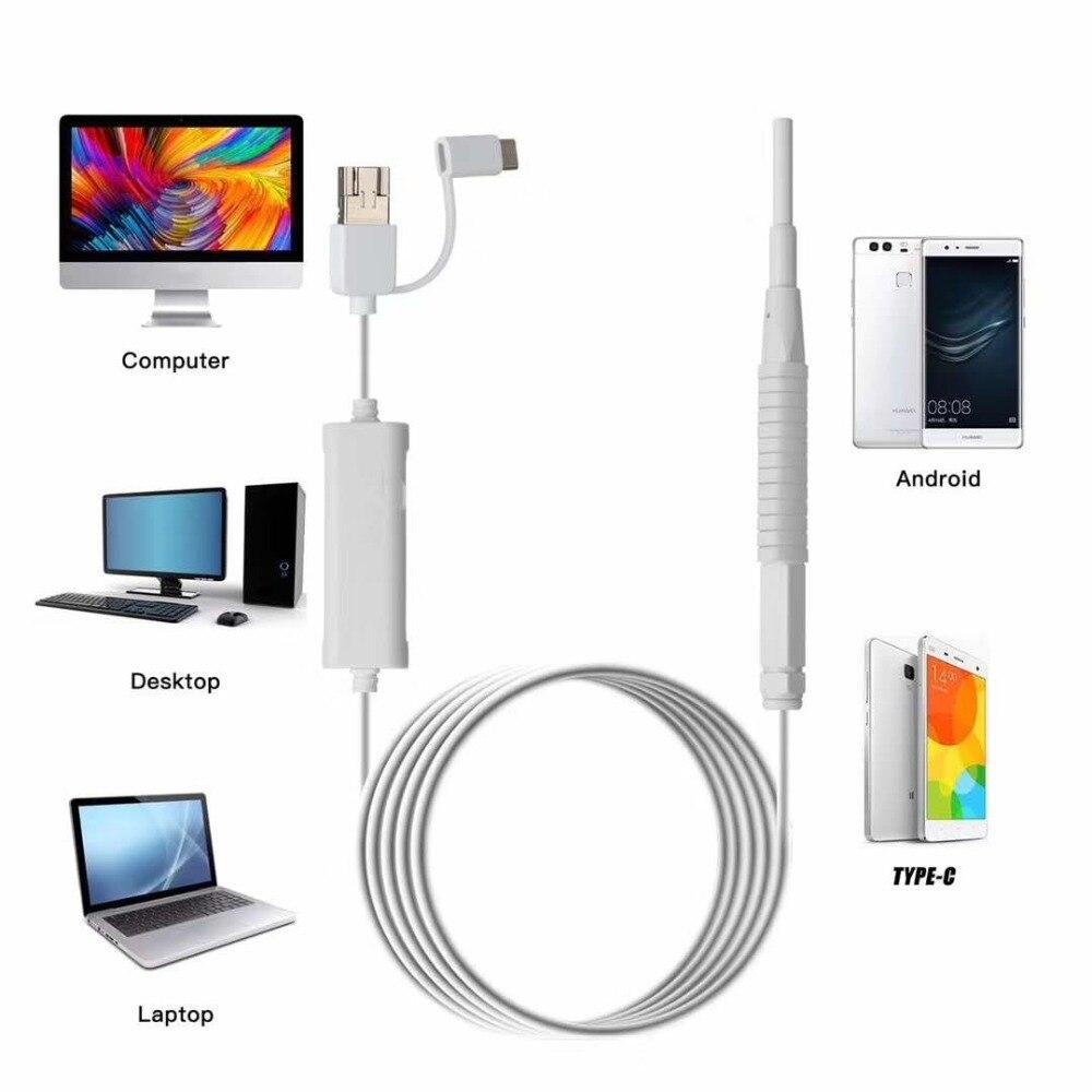 3in1 3.9mm /5.5mm  USB/WIFI  Ear Pick Endoscope Camera Ear Wax Cleaner Otoscope Earscope Borescope