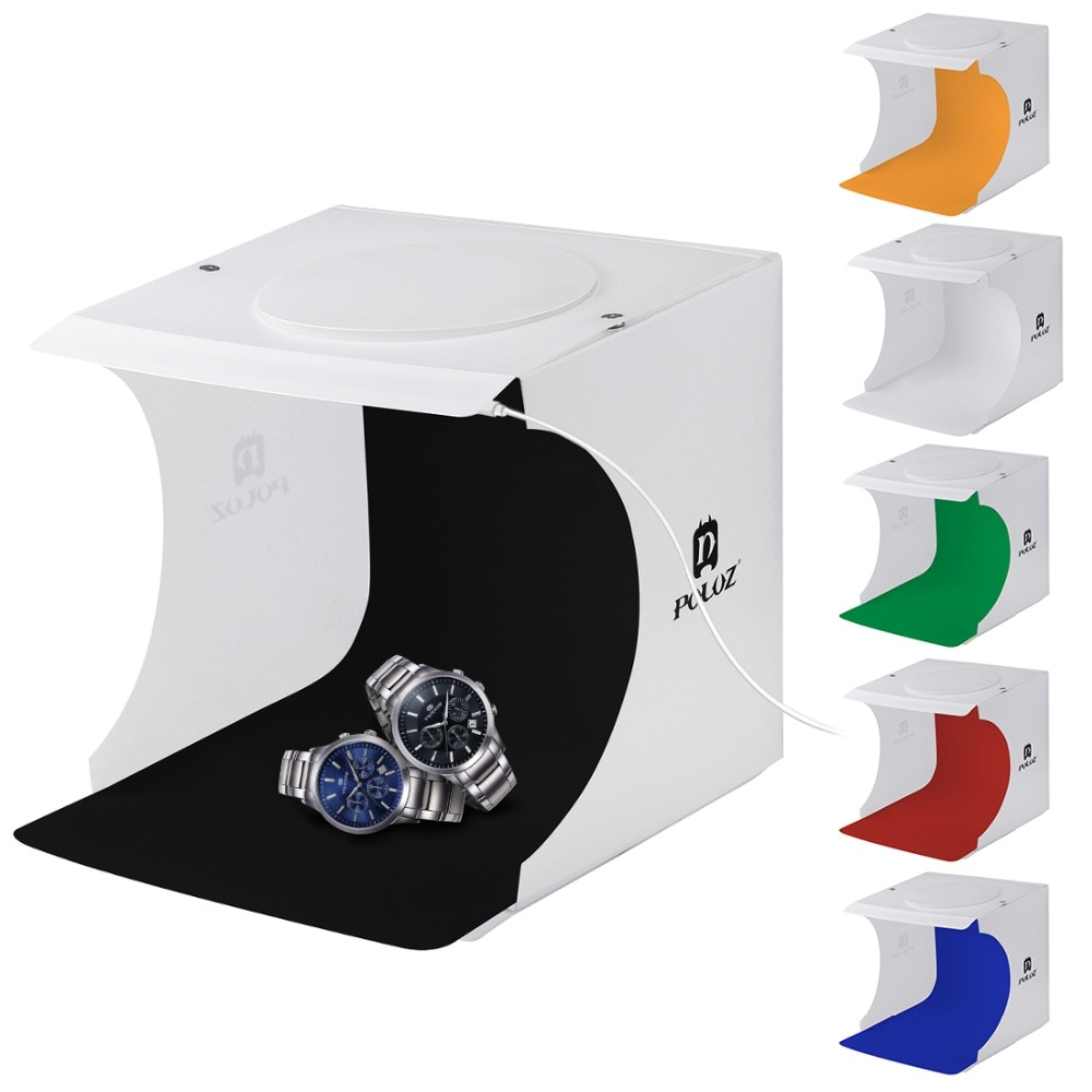 2020 20*20cm mini dobrável estúdio difusa caixa suave lightbox luz led preto branco fotografia fundo photo studio box