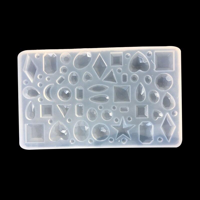Cristal gota tiempo gema molde de silicona redondo oval gotas de agua en forma de corazón inferior DIY molde para joyería