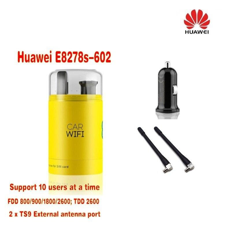 NEW UNLOCKED HUAWEI E8278s-602 4G LTE USB WIFI DONGLE UPTO 10 USERS MOBILE BROADBAND plus 2pcs antenna& 360 degree adapter
