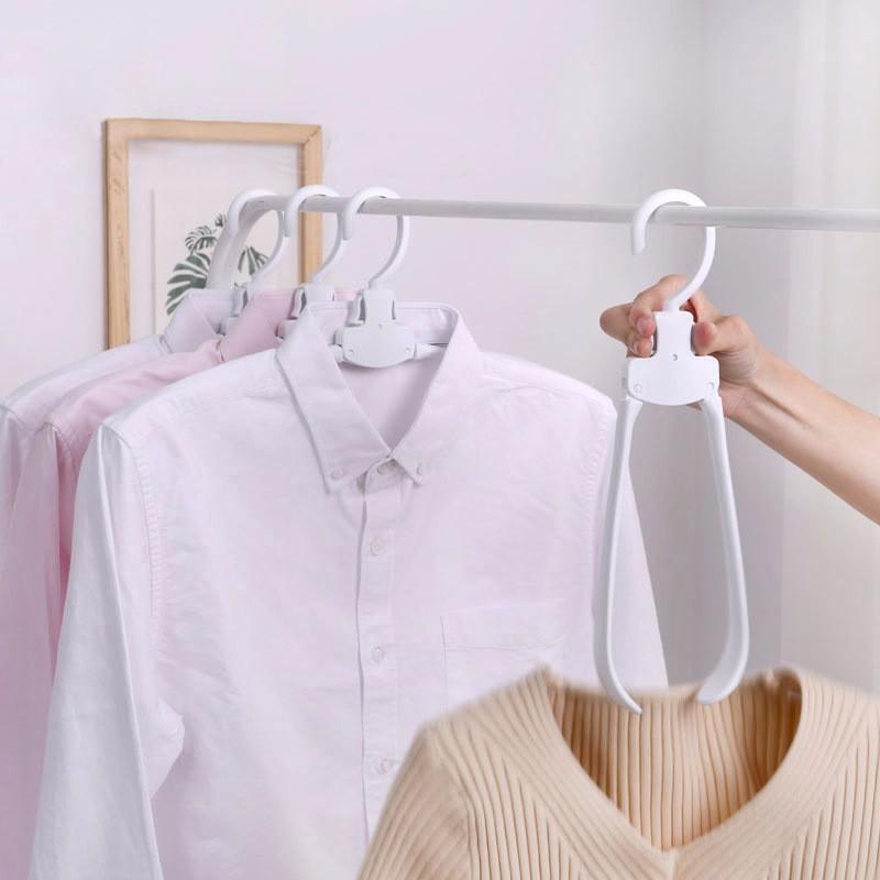 VOZRO Creativity Magic Clothes Hanger Stand Broad Shoulders Plastic Fold Organizer Perchas Cabide Decoracao Para Casa Wieszak