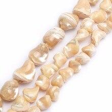 7-16mm perles de coquillage de Trochus irrégulières perles en vrac pour la fabrication de bijoux Bracelet collier 15 pouces bricolage bijoux