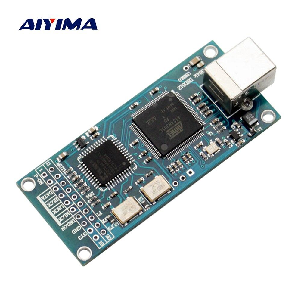AIYIMA ATSAM3U1C XC2C64A Amanero USB IIS Digital interfaz Placa de decodificador de DAC apoyo DSD512 32bit 384K I2S salida DSD
