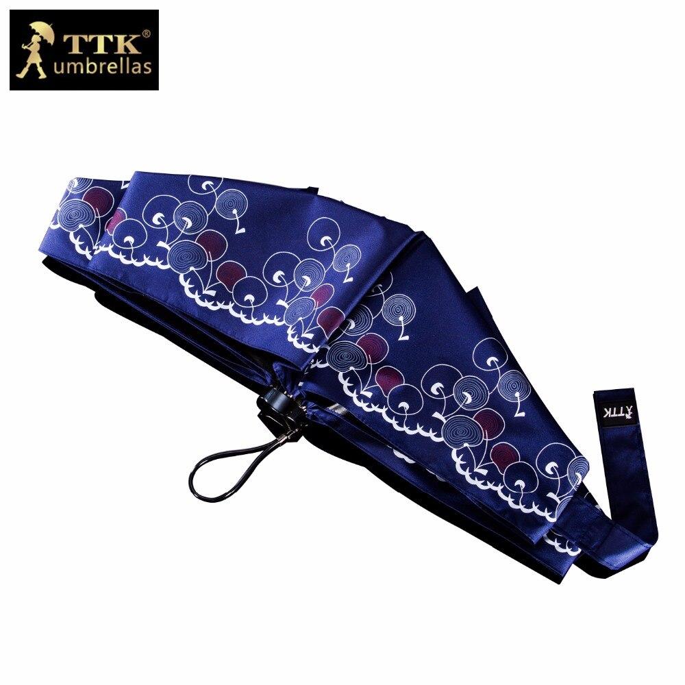 Paraguas femenino 5 paraguas plegables mini playa UV negro impermeable TTK marca Bolsillo pequeño sol parasol niños paraguas lluvia mujeres