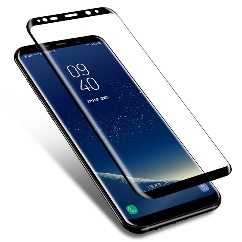 3D protectora de cristal para Samsung Galaxy S7 borde S8 S9 Plus templado 9H pantalla cristal protector para Samsung Galalxy Nota 8 9