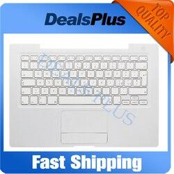 90% novo a1181 a1185 it italy palmrest superior caso teclado com trackpad touchpad (cabo amarelo) para macbook 13 white a1181 a1185 branco