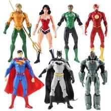 Figurines figurines de Justice, jouets poupées de noël, 17cm, 7 pièces/ensemble