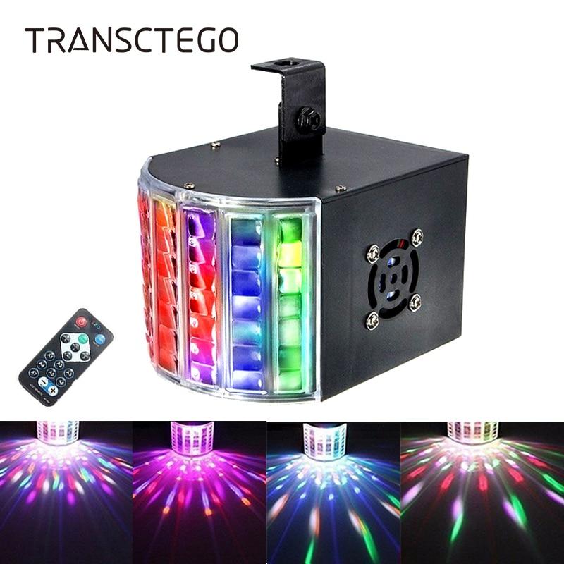 مصباح ديسكو ليزر Led مع صوت ، جهاز عرض ستروب لعيد الميلاد ، 18 واط ، DMX 512 DJ RGB