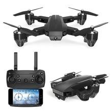 Faltbare Billig RC Hubschrauber mit LED Licht RC Drohne HD WiFi FPV Höhe Halten Modus rc Quadcopter spielzeug für geburtstag