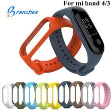 Bracelet pour Xiaomi Mi Band 3 4 bracelet de Sport montre Bracelet en Silicone pour Xiaomi mi band 3 4 bracelet Miband 4 3 Bracelet