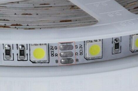Color Temperature Adjustable 12V 24V Led Strip 5050 Two Color Led Strip Free Shipping 150m/lot