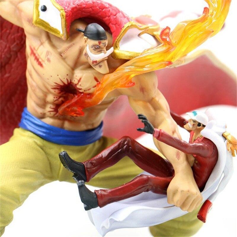 1 Uds. Figura de acción de Anime de una pieza barba blanca piratas Edward Newgate figuras de acción coleccionables juguetes en miniatura de PVC regalos para niños